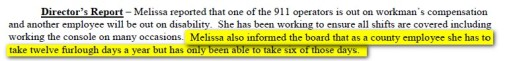 911 Director's Report
