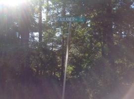 Faulkner Rd sign