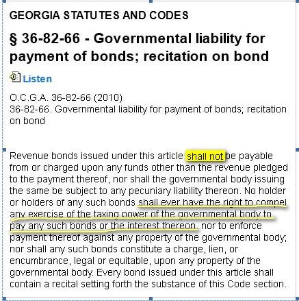 Bond Liability OCGA