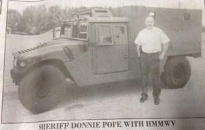 Pope w HumVee
