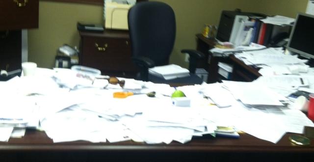 Karen Degges' desk