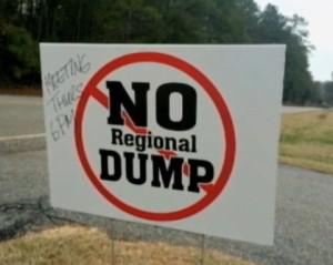 No regional dump