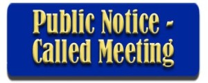 Special Called Meeting Notice