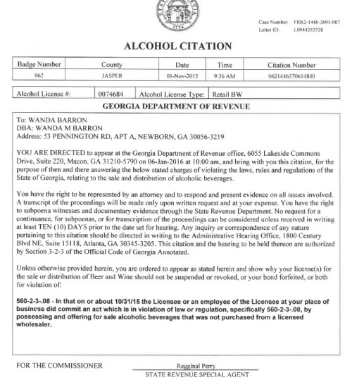 Barron-Alcohol Citation
